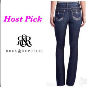 Rock & Republic Womens Blue Bootcut Jeans Sz 8 NWT
